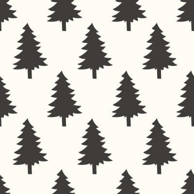 Sticker seamless forrest pattern