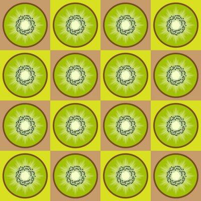 Sticker Seamless kiwi pattern