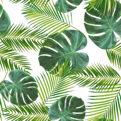 Sticker Seamless leaft pattern background for decoration and ornament.