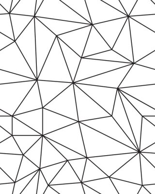 Sticker Seamless pattern of geometric mesh texture