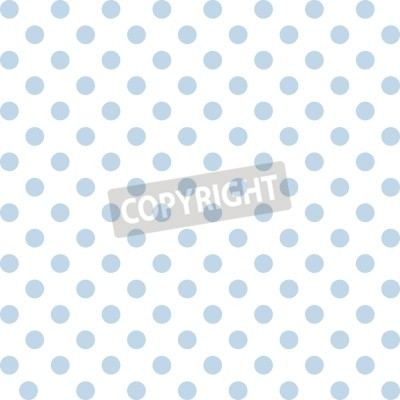 Sticker Seamless pattern, pastel blue polka dots, white background.  includes pattern swatch that will seamlessly fill any shape. For arts, crafts, fabrics, decorating, albums, scrapbooks.