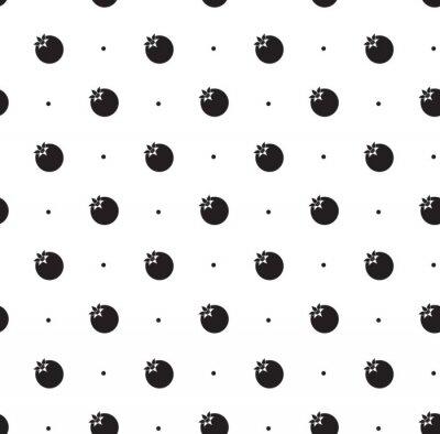 Sticker Seamless pattern with pomegranate