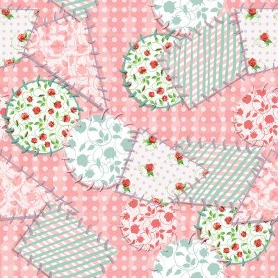 Sticker Seamless square background. Vector illustration.