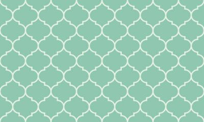 Sticker Seamless turquoise wide moroccan pattern vector