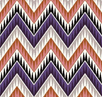 Sticker seamless zig zag textured textile pattern
