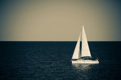 Sticker Segelboot auf hoher See