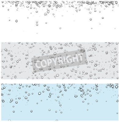 Sticker Set of backgrounds with bubbles. Vector water illustration.