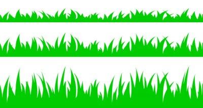 Sticker Set of seamless the grass.