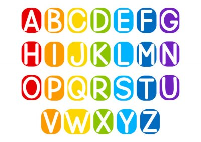 Sticker Set of vector letters for Your design