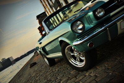 Sticker Shelby Replica of the Mustang 350 in the setting sun