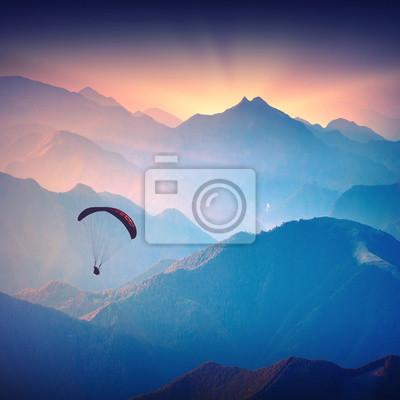 Sticker Silhouette of paraglide