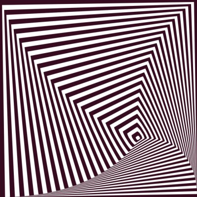 Sticker simple abstract striped pyramidal background. optical illusion t