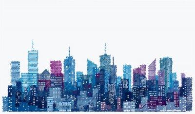 Sticker sketch city