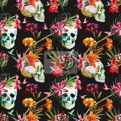 Sticker Skull pattern
