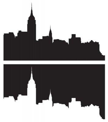 Sticker Skyline of New York City