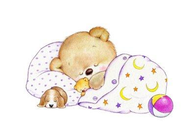 Sticker Sleeping Teddy bear