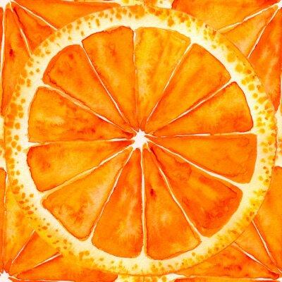 Sticker sliced orange or grapefruit