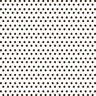 Sticker Small black polka dot background