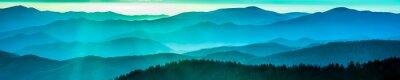 Sticker Smoky mountain ridges