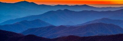 Sticker Smoky mountain sunset