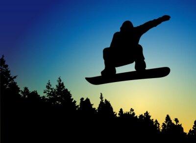 Sticker Snowboard Jump