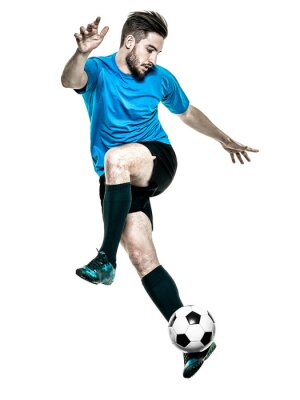 Sticker Soccer player Man Isolated