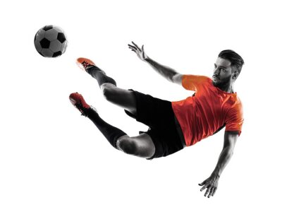 Sticker Soccer player Man Isolated silhouette
