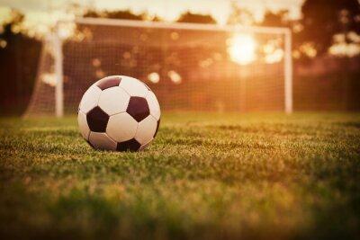 Sticker Soccer sunset