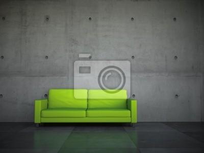 Sticker Sofa Generation grün concrete wall forms