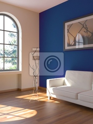 Sticker Sofa Rendering Sonne blue