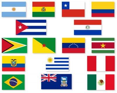 Sticker South American Flag Set