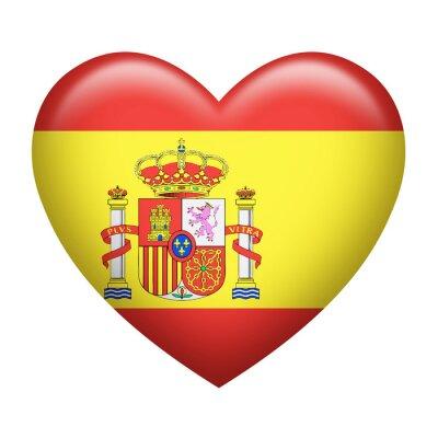 Sticker Spanish Insignia Heart Shape