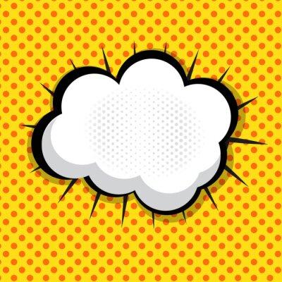 Sticker Speech Bubble Pop Art Background On Dot Background Vector Illust