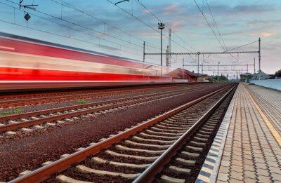 Sticker Speed Train in station