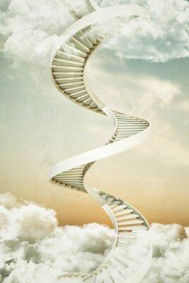 Sticker spiral staircases