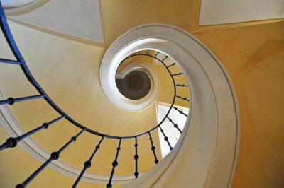 Sticker spiral staircases architectural element of a historic building