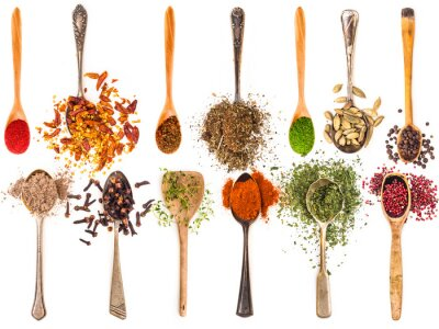 Sticker spoons with spices