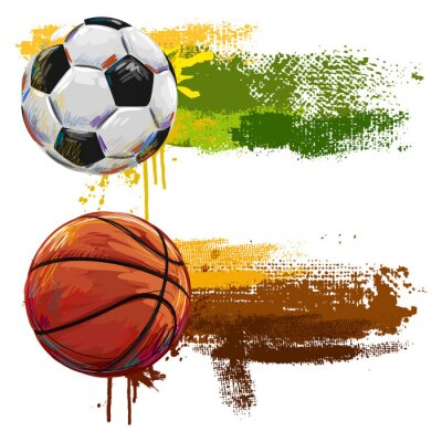 Sticker Sports Banners. All elements are in separate layers and grouped.