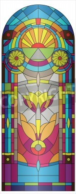 Sticker  stained-glass