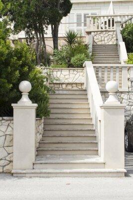 Sticker Stairs at Korcula island, Croatia