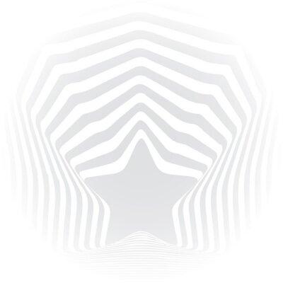 Sticker Star grey stripes optical illusion visual art effect.