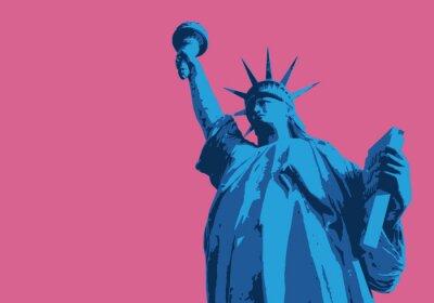 Sticker Statue de la liberté - New York - symbole, américain - décoration - déco - fond