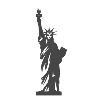 Sticker Statue of Liberty icon - Illustration