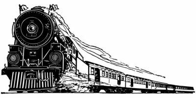 Sticker Steam Locomotive