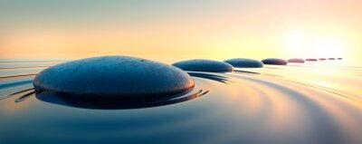 Sticker Steine im Wasser 3