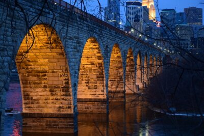 Sticker Stone Arch Bridge