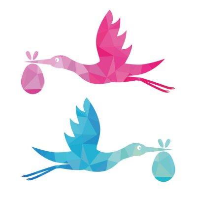 Sticker stork