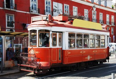 Sticker Straßenbahn in Lissabon