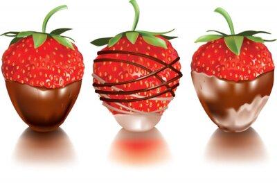 Sticker Strawberry in liquid