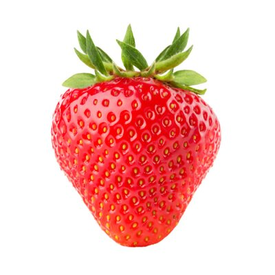 Sticker strawberry isolated on the white background